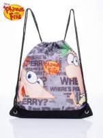 Czarny plecak worek DISNEY Fineasz i Ferb                                  zdj.                                  1