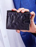 Czarny portfel dla mężczyzny z klapką                                  zdj.                                  2