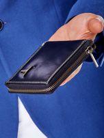 Czarny portfel męski na suwak                                  zdj.                                  6