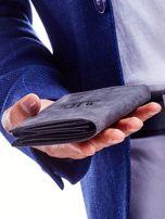 Czarny portfel męski przecierany                                  zdj.                                  9