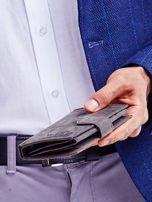 Czarny portfel skórzany dla mężczyzny                                   zdj.                                  5