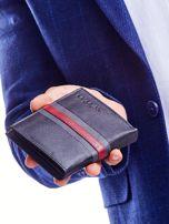 Czarny portfel skórzany z czerwoną wstawką                                  zdj.                                  6