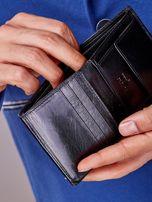 Czarny portfel z tłoczeniami męski                                   zdj.                                  5