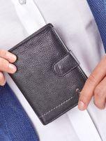 Czarny rozkładany portfel ze skóry                                  zdj.                                  1