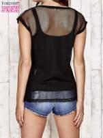 Czarny siatkowy t-shirt                                   zdj.                                  2