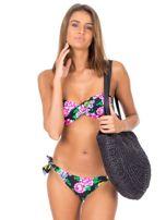 Czarny strój kąpielowy bikini w kwiaty                                  zdj.                                  6