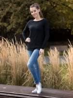 Czarny sweter z dłuższym tyłem i rozporkami po bokach                                  zdj.                                  12