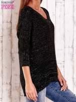 Czarny sweter z metaliczną nicią FUNK N SOUL                                  zdj.                                  4