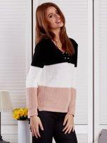 Czarny sweter z perełkami                                  zdj.                                  5
