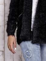 Czarny sweter ze złotymi suwakami                                                                          zdj.                                                                         5