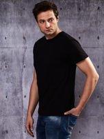 Czarny t-shirt męski basic                                  zdj.                                  6