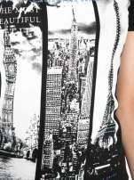 Czarny t-shirt z fotografiami miast                                                                          zdj.                                                                         8