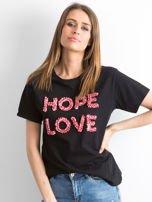 Czarny t-shirt Hoppin                                  zdj.                                  1