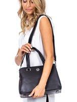 Czarny trapezowa torebka kuferek do ręki                                  zdj.                                  1