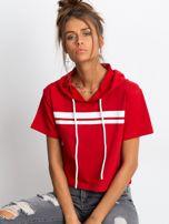 Czerwona bluza z kapturem                                  zdj.                                  1