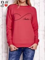 Czerwona bluza z napisem SMILER                                  zdj.                                  1