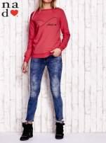 Czerwona bluza z napisem SMILER                                  zdj.                                  2