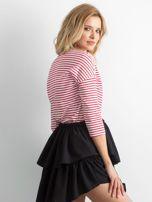 Czerwona bluzka damska w paski                                  zdj.                                  2
