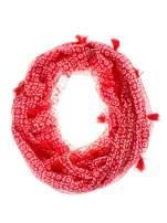 Czerwona chusta szal w geometryczny wzór                                                                          zdj.                                                                         2