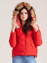Czerwona damska kurtka z kapturem                                  zdj.                                  6
