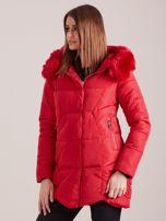 Czerwona damska kurtka zimowa                                  zdj.                                  5