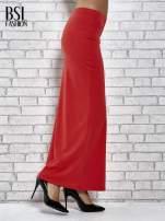 Czerwona długa spódnica maxi z rozporkiem                                  zdj.                                  3