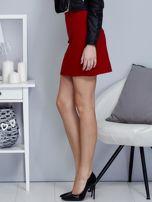 Czerwona dzianinowa spódnica mini                                  zdj.                                  3
