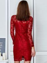 Czerwona elegancka koronkowa sukienka                                  zdj.                                  2