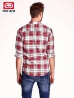 Czerwona koszula męska motyw kratki                                  zdj.                                  5