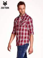 Czerwona koszula męska w kratkę