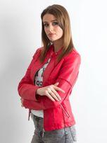 Czerwona kurtka biker damska                                   zdj.                                  3