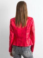 Czerwona kurtka biker damska                                   zdj.                                  2