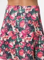 Czerwona kwiatowa mini pódnica skater                                  zdj.                                  6