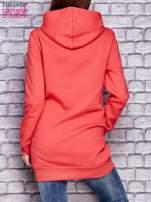 Czerwona ocieplana bluza z kapturem                                  zdj.                                  2