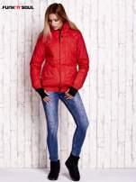 Czerwona ocieplana kurtka narciarska z kapturem FUNK N SOUL                                  zdj.                                  2