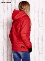 Czerwona ocieplana kurtka narciarska z kapturem FUNK N SOUL                                  zdj.                                  4