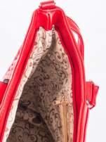 Czerwona pikowana torba na ramię                                  zdj.                                  11