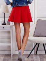 Czerwona rozkloszowana spódnica damska                                  zdj.                                  2