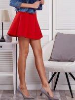 Czerwona rozkloszowana spódnica damska                                  zdj.                                  5
