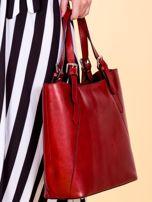 Czerwona skórzana torba shopper bag                                  zdj.                                  2