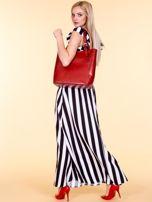 Czerwona skórzana torba shopper bag                                  zdj.                                  5