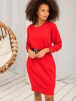 Czerwona sukienka Cristine                                  zdj.                                  2