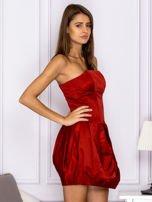 Czerwona sukienka bombka                                  zdj.                                  3