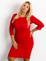 Czerwona sukienka plus size Miley                                  zdj.                                  1