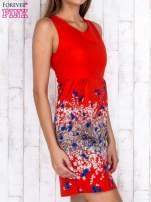 Czerwona sukienka z dekoltem na plecach                                                                          zdj.                                                                         3