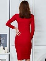 Czerwona sukienka z suwakiem                                  zdj.                                  2