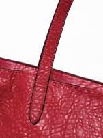 Czerwona torebka shopper bag z apaszką