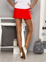 Czerwone gładkie spodenki spódniczka tenisowa                                   zdj.                                  3