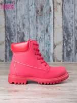 Czerwone jednolite buty trekkingowe damskie Westie traperki ocieplane                                  zdj.                                  2