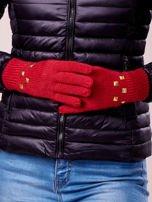 Khaki rękawiczki z ćwiekami i ściągaczem                                                                          zdj.                                                                         3